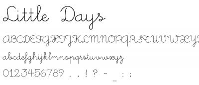Script Little Days Little Days Alt và Little Daisy Việt Font Little days vietdesigner.net 1